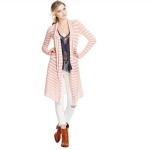 Free People Forget Me Not Long Cardigan Sweater XS